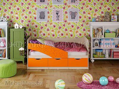 Кровать Бабочка - Матовый оранжевый