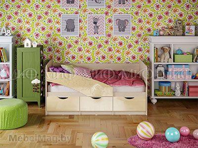 Кровать Бабочка - Глянец ваниль