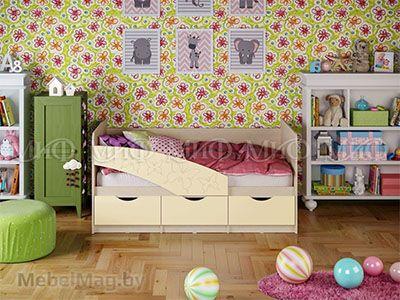 Кровать Бабочка - Матовый ваниль