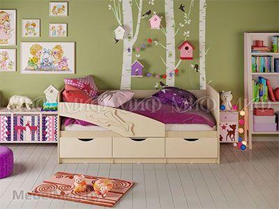 Кровать Дельфин - Матовый ваниль (1,8м)