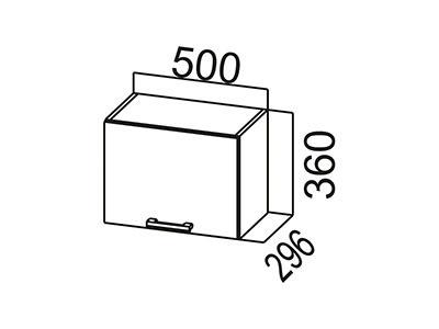 Кухонный гарнитур  Карамель  Шкаф навесной (горизонтальный) ШГ500 Дуб Млечный/Дуб Млечный