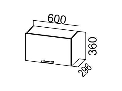 Кухонный гарнитур  Карамель  Шкаф навесной (горизонтальный) ШГ600Дуб Млечный/Дуб Млечный