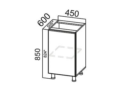 Стол-рабочий 450 С450 ЛДСП Лен