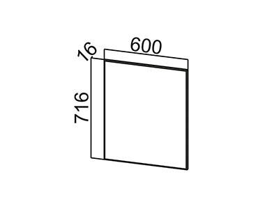 Фасад для посудомоечной машины 600 ФП600 Модерн / Ваниль глянец