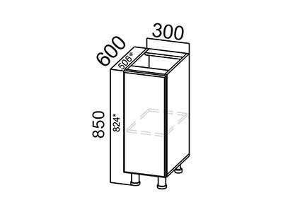 Стол-рабочий 300 С300 Серый / Геометрия / Дуб Венге