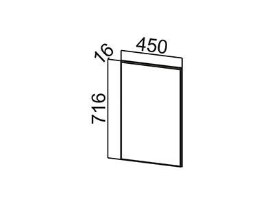 Фасад для посудомоечной машины 450 ФП450 ЛОФТ/Белый Глянец