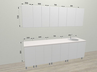 Кухня Лён (2,45м)