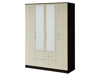Шкаф 4-х створчатый Венге/Лоредо - Фиеста