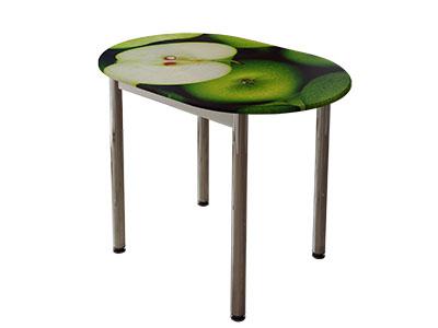 Стол обеденный с принтом Белый/Зелёное яблоко