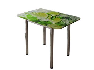 Стол обеденный с принтом Белый/Лайм