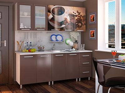 Кухня Люкс модульная - Шоколад (2,0м)