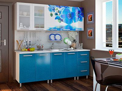 Кухня Люкс модульная - Лазурь (2,0м)