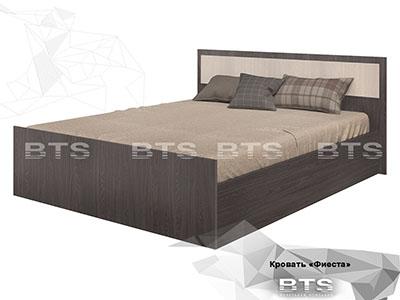 Кровать 1200 Ясень тёмный/Ясень светлый - Фиеста