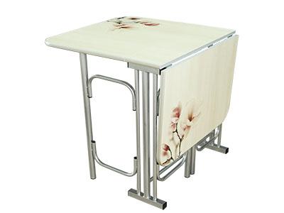 Стол-тумба S3 Цветы сакуры Хром