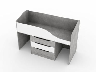 Кровать трансформер 800x1900 Цемент светлый/Белый - Миндаль