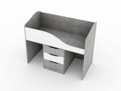 Кровать трансформер 800x1600 Цемент светлый/Белый - Миндаль