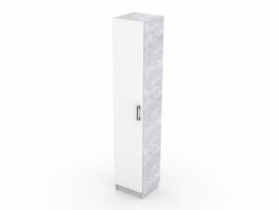 Пенал Цемент светлый/Белый - Стол компьютерный №7