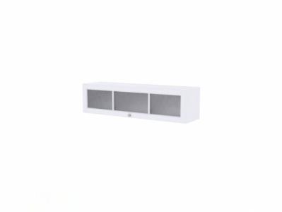 Полка навесная со стеклом Белый/Белый структурный - Версаль