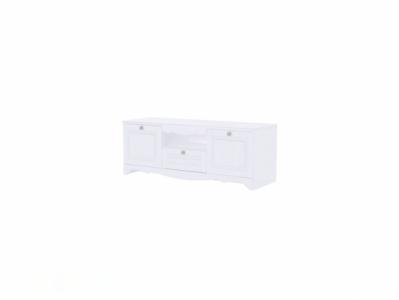Тумба для ТВ 1370x512 Белый/Белый структурный - Версаль