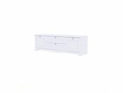 Тумба для ТВ 1602x512 Белый/Белый структурный - Версаль