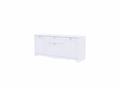 Тумба для ТВ 1602x704 Белый/Белый структурный - Версаль