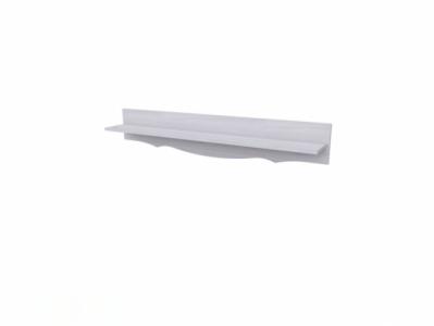 Полка навесная Белый/Белый структурный - Версаль