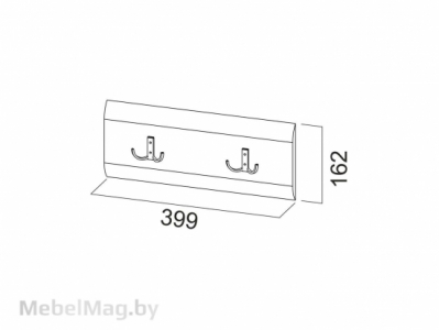 Планка декоративная с крючками 0,8м Белый перламутр - МС №1