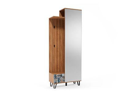 Вешалка с зеркалом 800 Делано/Графика - Колибри