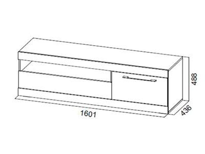 Тумба для ТВ с ящиками и нишей 1600 Истанбул/Белый глянец - Ницца