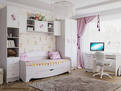 Набор мебели для детской «Акварель 1» Цветы