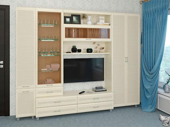 Гостиная Мелисса-10 - Дуб Беленый