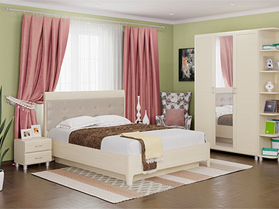 Спальня Мелисса-1 - Дуб Беленый