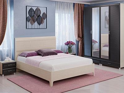 Спальня Мелисса-3 - Дуб Беленый, Дуб Венге