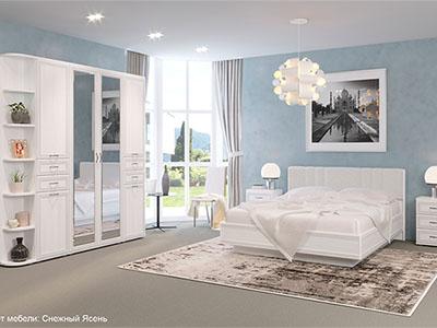 Спальня Карина-3 - Снежный Ясень