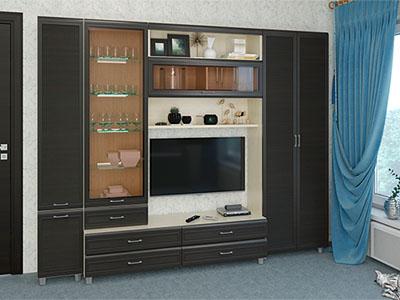 Гостиная Мелисса-10 - Дуб Беленый, Дуб Венге