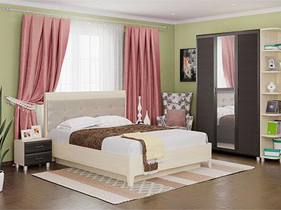 Спальня Мелисса-1 - Дуб Беленый, Дуб Венге