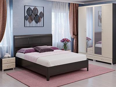Спальня Мелисса-3 - Дуб Венге, Дуб Беленый