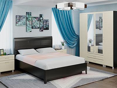 Спальня Мелисса-4 - Дуб Венге, Дуб Беленый
