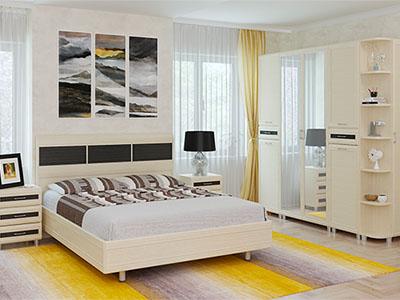 Спальня Мелисса-5 - Дуб Беленый-комб.