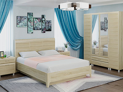 Спальня Мелисса-4 - Дуб Сонома