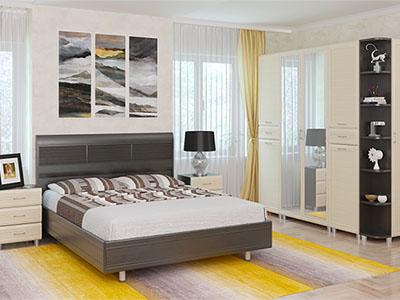 Спальня Мелисса-5 - Дуб Венге, Дуб Беленый