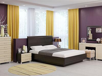 Спальня Мелисса-2 - Дуб Венге, Дуб Беленый