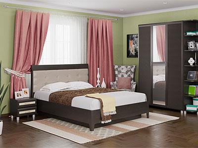 Спальня Мелисса-1 - Дуб Венге, вст.Беленый
