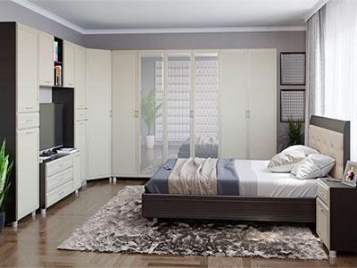 Спальня Мелисса-7 - Дуб Венге, Дуб Беленый
