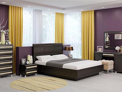 Спальня Мелисса-2 - Дуб Венге, вст.Беленый