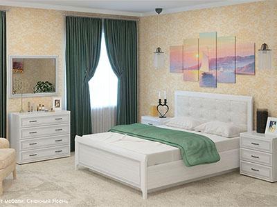 Спальня Карина-5 - Снежный Ясень