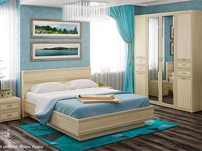 Спальня Карина-1 - Ясень Асахи