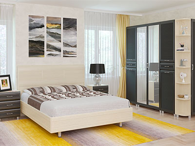 Спальня Мелисса-5 - Дуб Беленый, Дуб Венге