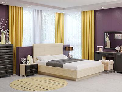 Спальня Мелисса-2 - Дуб Беленый, Дуб Венге