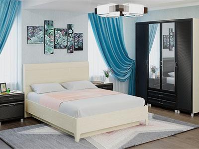 Спальня Мелисса-4 - Дуб Беленый, Дуб Венге